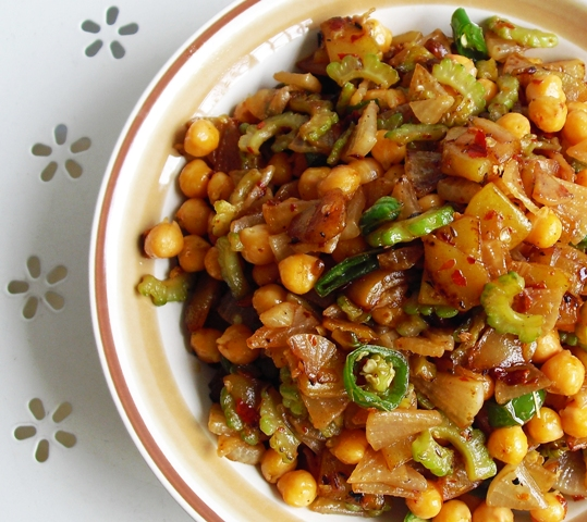 Chickpea, Vegetable and Cumin Stir Fry