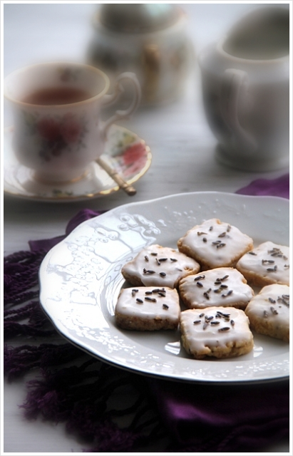 Iced Ginger And Lavender Cookies